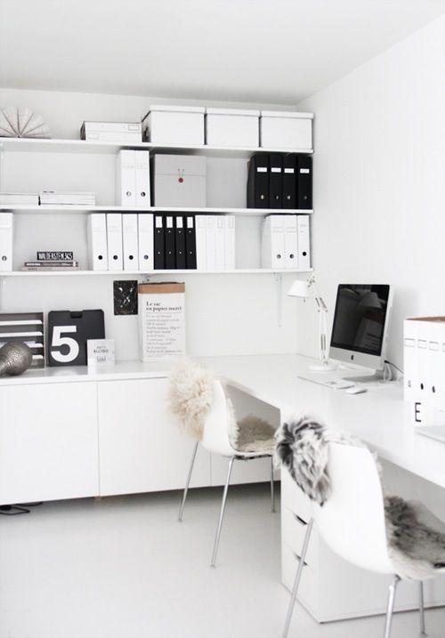 Beautiful white desk