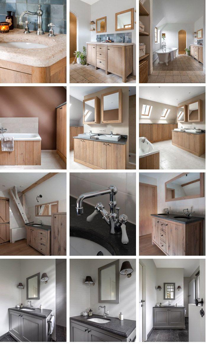 Badkamermeubels - Eiken Project - landelijke keukens van massief eik