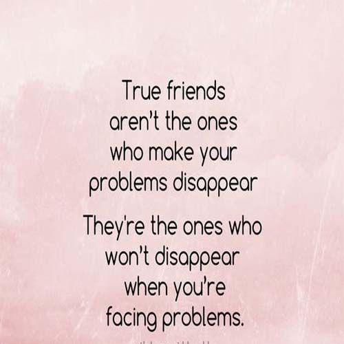 True friends who make your problem