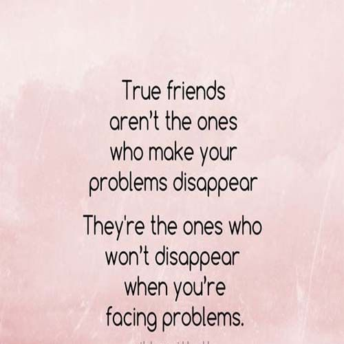True friends who make your problem