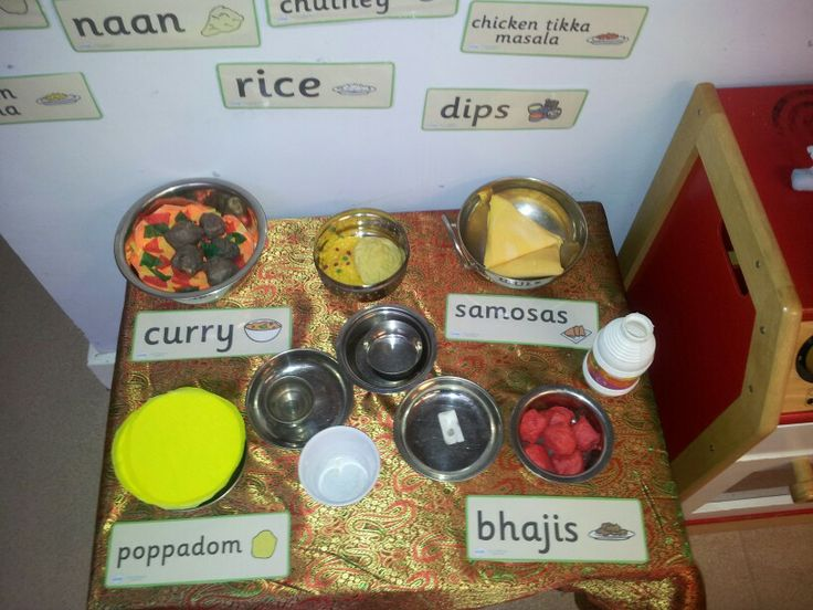 Indian resturant role play food