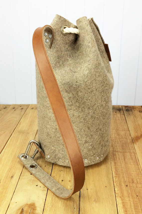 Felt backpack bag