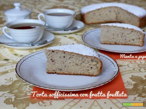 Torta sofficissima con frutta frullata #ricette #food #recipes