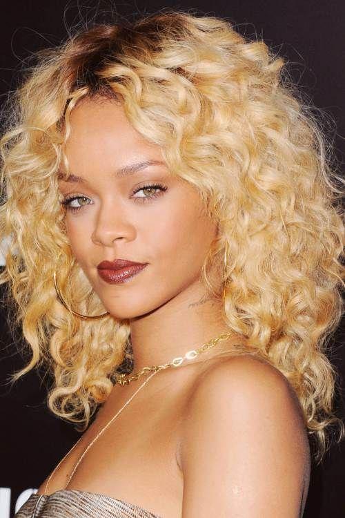 Rihanna blonde hair color idea