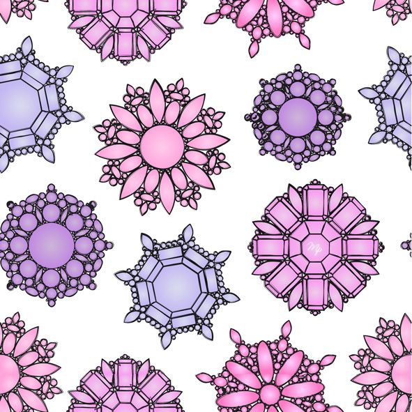 jewelry brooch pattern fashion illustration
