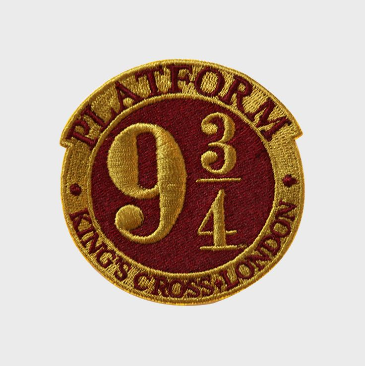 Platform 9 3/4 Embroidered Logo Patch | The Harry Potter Shop at Platform 9 3/4