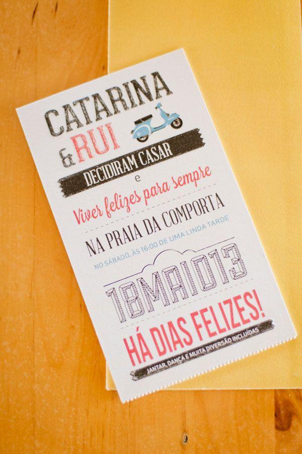 Typograpic invintation Catarina & Rui Wedding | Como Branco Wedding Concepts