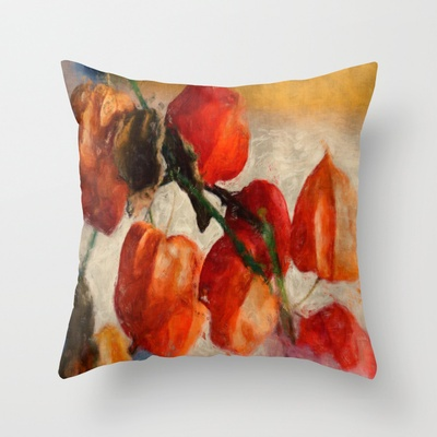 Physalis Throw Pillow by LoRo  Art & Pictures - $20.00