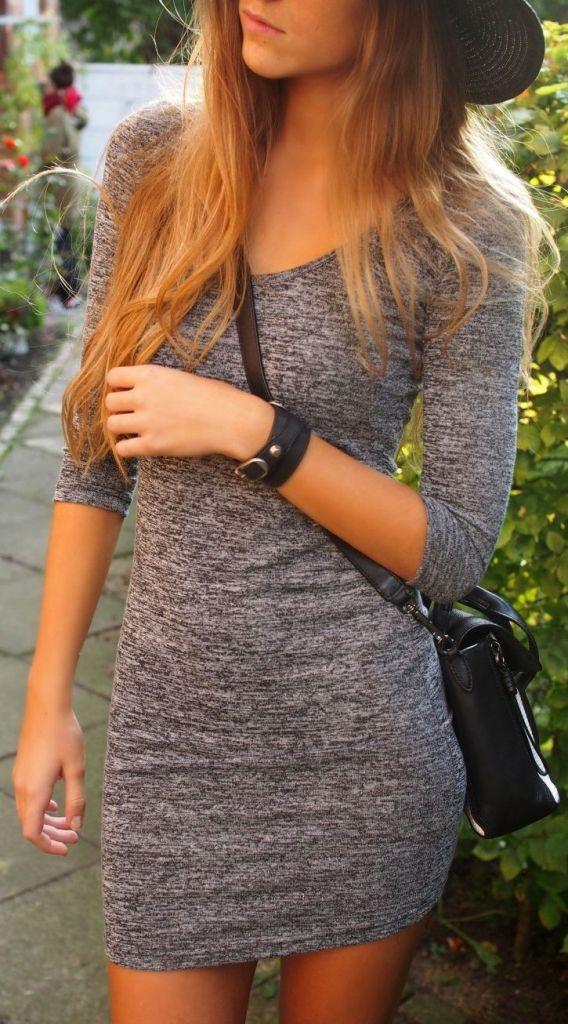 #street #style / longsleeve dress