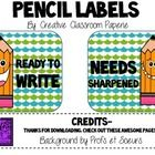 Cute, funky pencil labels to let your students know if pencils need sharpened or are ready to write!...