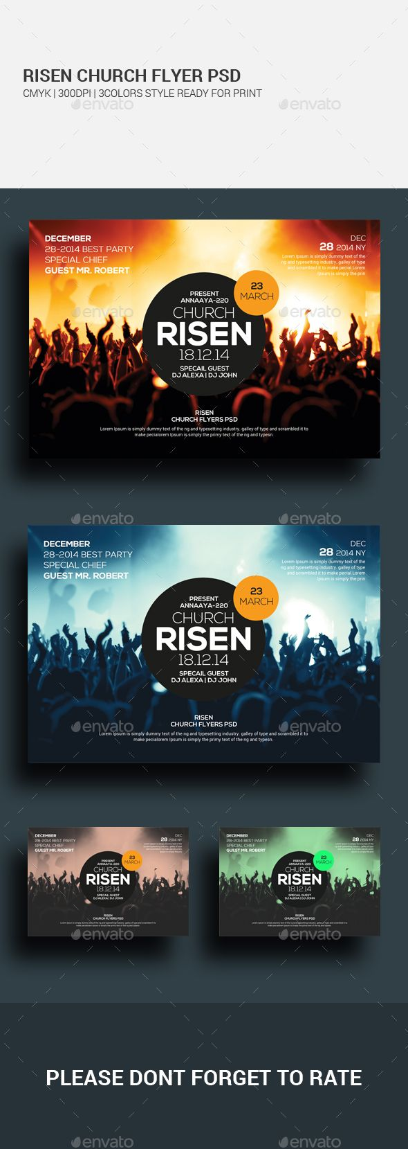 Easter Sunday Church PSD Template Set. Download here…