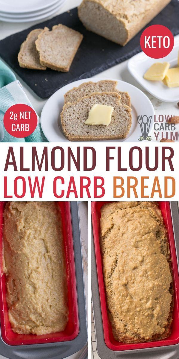 Low Carb Keto Almond Flour Bread In 2020 Easy Keto Bread Recipe Lowest Carb Bread Recipe Keto Recipes Easy