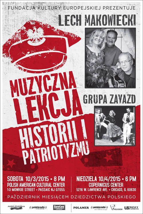 Lech Makowiecki & Grupa Zayazd Muzyczna Lekcja Historii i Patriotyzmu 10/04/2015