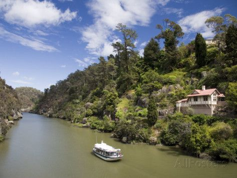 Passnger Ferry on Cateract Gorge, Launceston, Australia Photographic Print by Julian Love at AllPosters.com