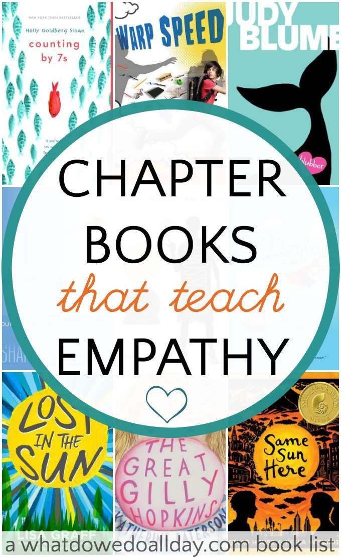 Chapter books that teach kids empathy and compassion for others.