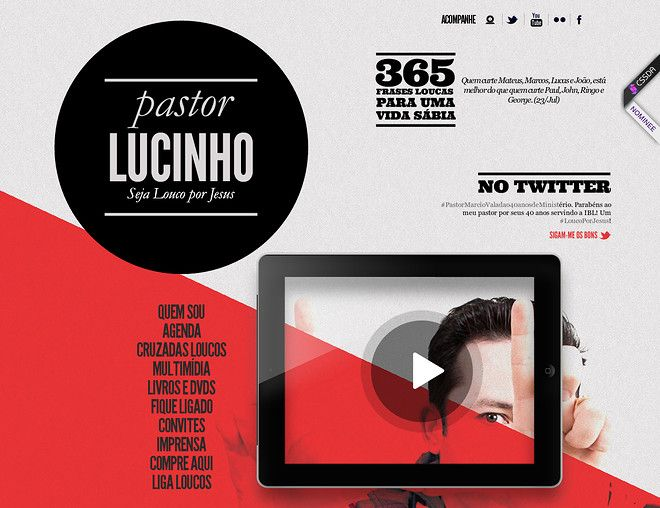 Pastor Lucinho - CoolHomepages Web Design Gallery