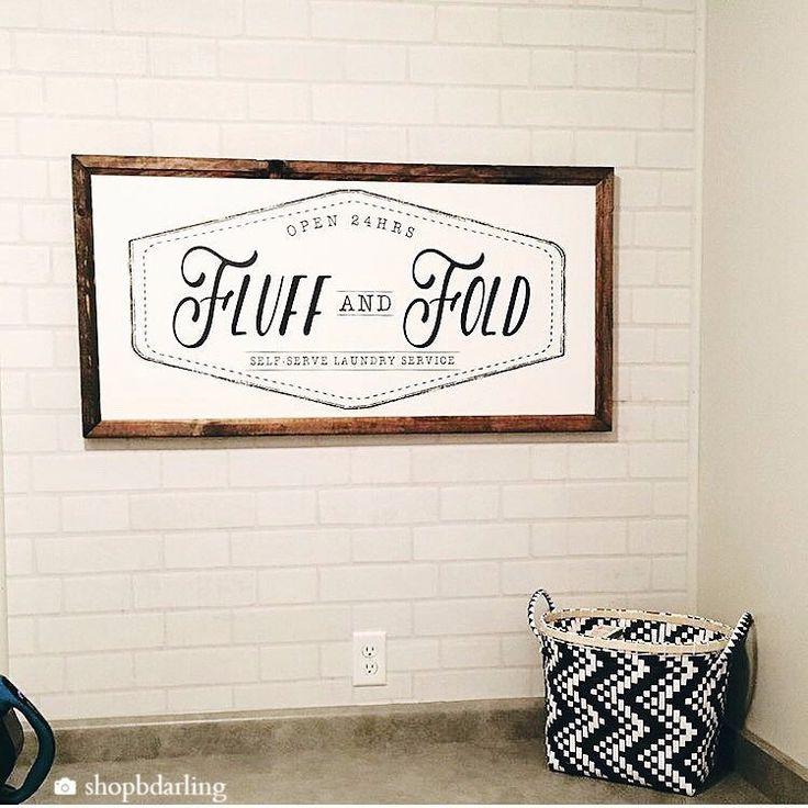 Wood Framed Signboard - Fluff & Fold - XL - 45x23
