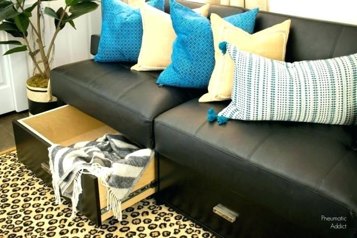 Shiny Futon With Storage Drawers Ilrations Ideas