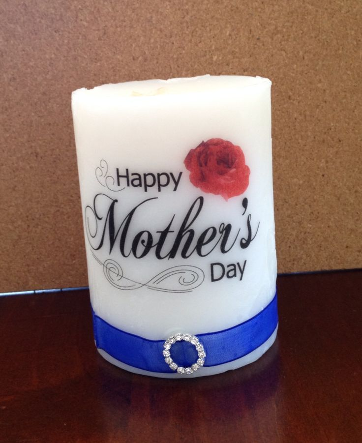 Home made Mother's Day candles