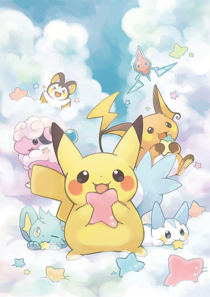 Pokémon, Pikachu, Shinx, Pachirisu, Raichu, Flaaffy, Rotom, Emolga