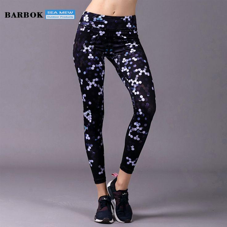 BARBOK Quick Dry Elastic Yoga Pants Neon Yoga Leggings Women Sweatpants Fitness Tights Running Pants Lady Joggers Trousers #Affiliate