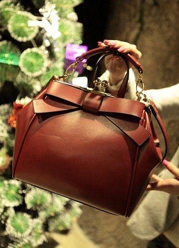 Fendi 2009 Leather Boston Handbag 8257 Pink
