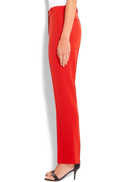 Givenchy - Cropped Straight-leg Pants In Red Grain De Poudre Wool - FR34