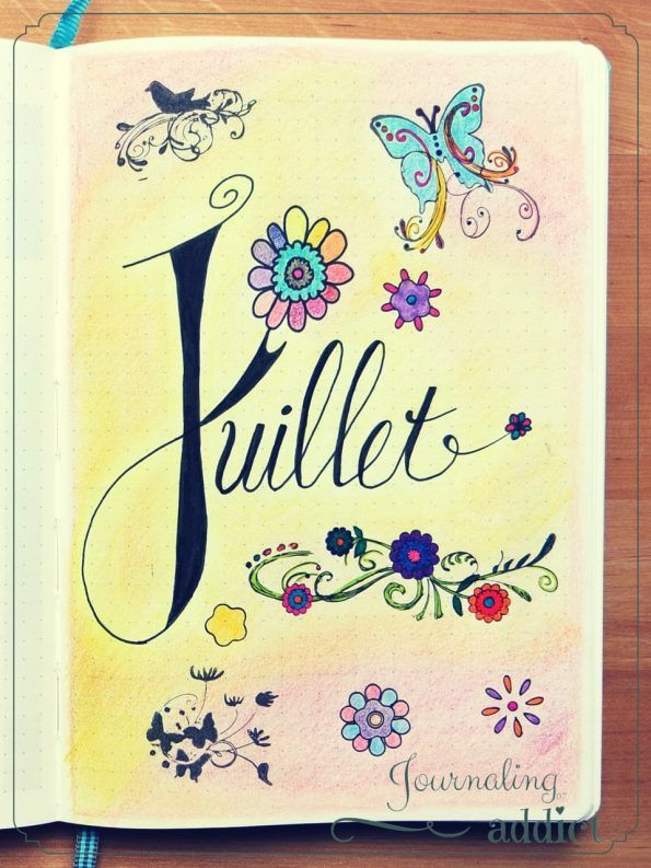 bullet journal calendrier pages mensuelles 1