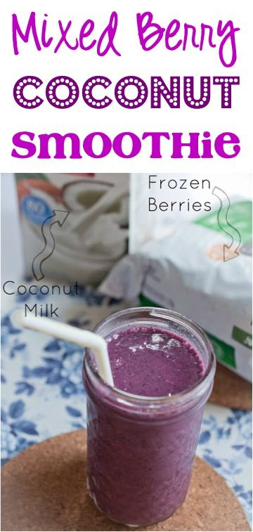 Healthy Mixed Berry Coconut Smoothie Recipe! #smoothies #recipes
