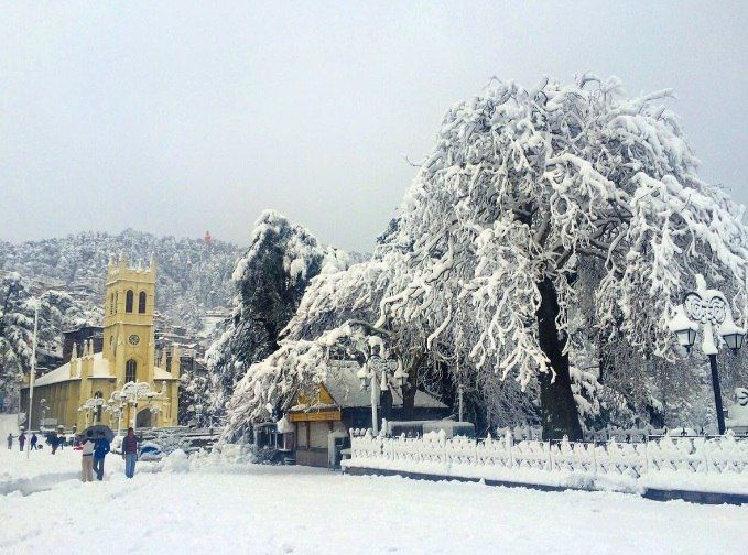 На Индию обрушились мощные снегопады