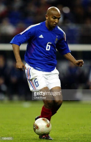 Olivier Dacourt of France runs with the ball during the International friendly match between France and Egypt on April 30 2003 at The Stade de France...