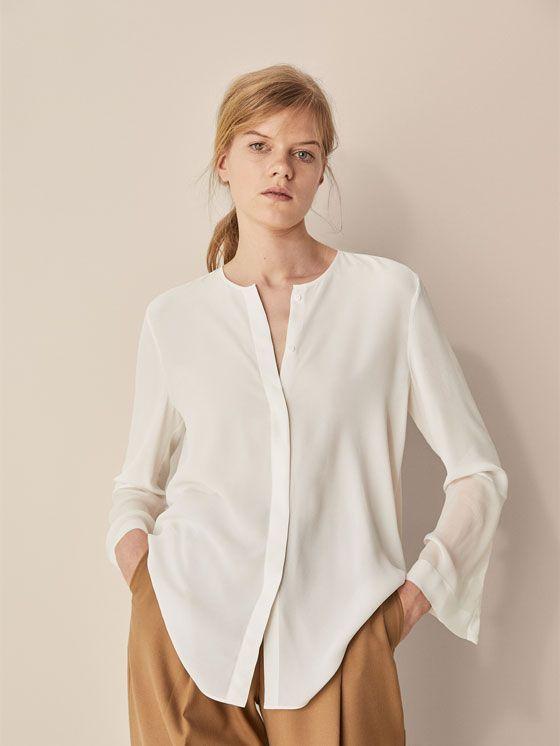 2f24ecf69 Las blusas y camisas de mujer más elegantes en Massimo Dutti. Descubra blusas  de seda, camisas estampadas y de vestir en el avance de primavera 2018.