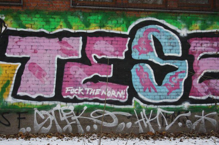 Graffiti am Kaifu-Bad, Isekanal - Foto: Birgit Puck