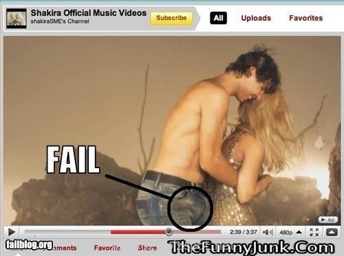 Shakira Rock It.. Video Clip Fail