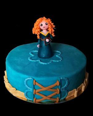 gâteau rebelle / brave cake merida                              …