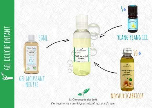 Gel douche extra-doux pour enfant aux huiles essentielles et végétales