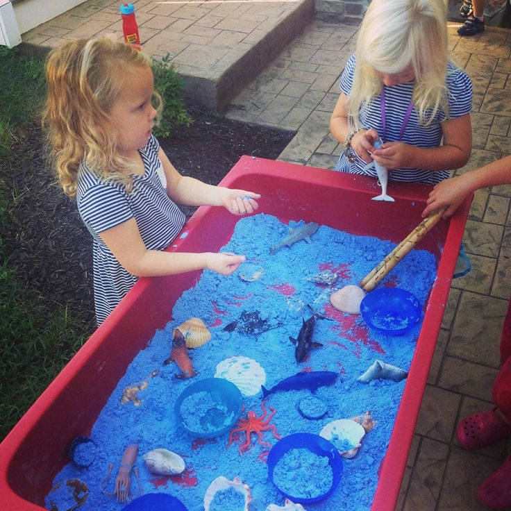 Ocean Cloud Dough Sensory Play (from Crozet Play School)