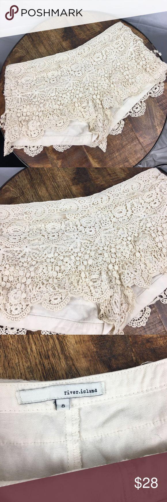 Crochet shorts Cute boho girl shorts. Preloved condition River Island Shorts
