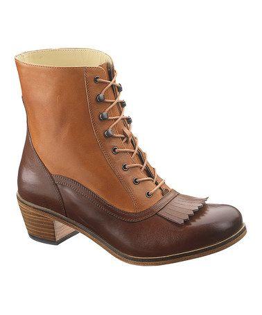 This Tan & Dark Tan Nesbit Kiltie Leather Boot by Wolverine 1000 Mile is perfect! #zulilyfinds