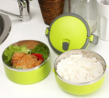 Best price on Double Stainless Steel Lunch Box //   See details here: http://smartkitchentools.com/product/lunch-box-creative-double-stainless-steel-lunch-box-candy-colors-dinnerware-portable-thermal-storage-box-1414-5cm-62g-h-120/ //    #delicious #eating #foodpic #foodpics #eat #hungry #hot #foods #dessert #cake #icecream #delicious