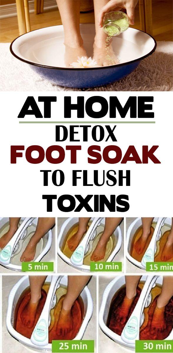 At Home Detox Foot Soak To Flush Toxins Foot Detox Soak Home Detox Detox Flush