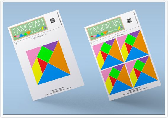 Use the templates to cut out your Tangram puzzles - Free Printables! - http://www.tangram-channel.com