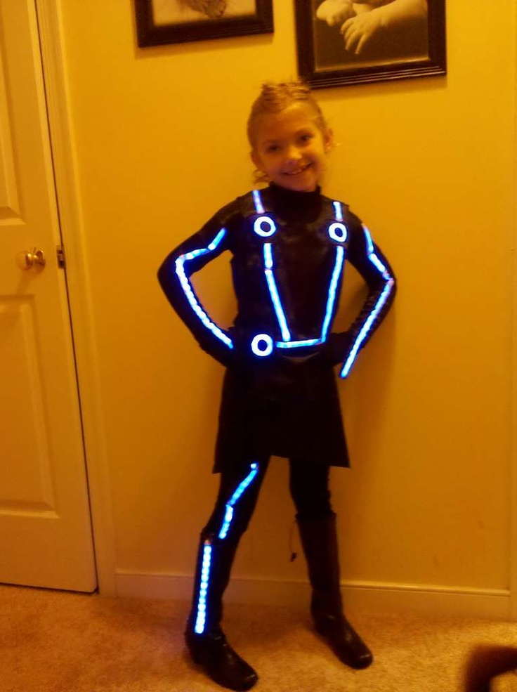 DIY Child's Quorra (Tron) Costume // Halloween 2013