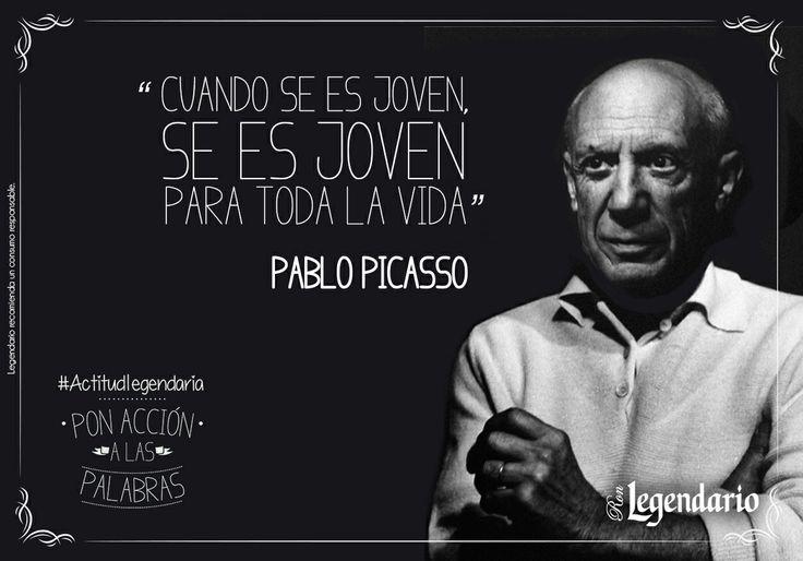 """Frases: """"Cuando se es joven, se es joven siempre"""" Pablo Picasso  Ron Legendario"""