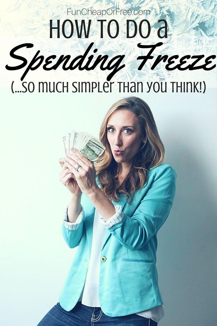 How to do a spending freeze! Video and post, SUCH good info! - Fun Cheap or Free