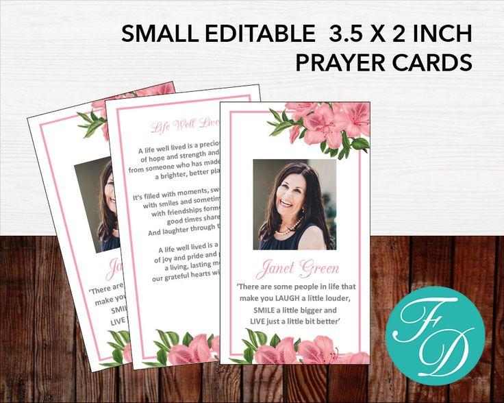 58 best Prayer Cards images on Pinterest Microsoft word, Prayer - celebration of life templates