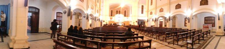 Interior de la iglesia María Auxiliadora. Vista panorámica.