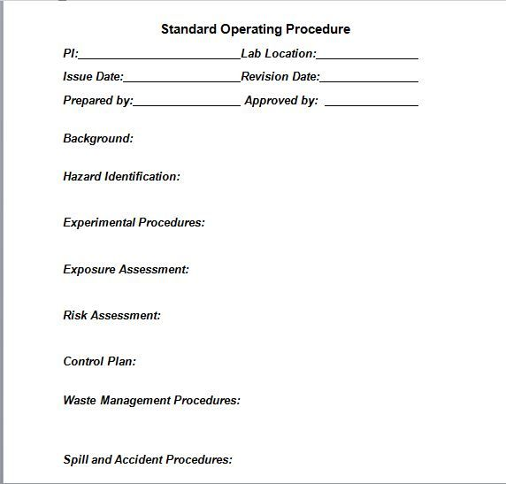 The 25+ best Standard operating procedure template ideas on - procedure manual template for word