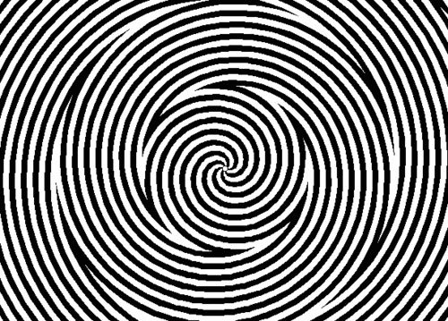 optical illusion. look for 30seconds then look at your hand