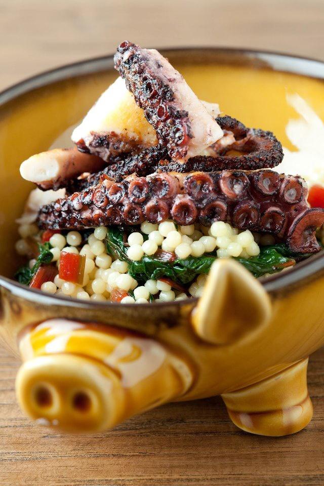 Pulpo marinado con verduras I Marinated Octopus with vegetables
